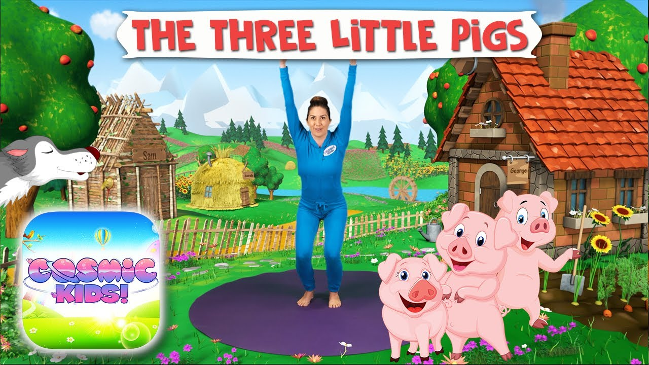 3 Little Pigs A Cosmic Kids Yoga Adventure App Preview Youtube