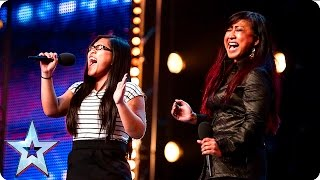 See more from Britain's Got Talent at http://itv.com/talent Mother and daughter duo Ana and Fia may have recently started singing together, but the pair manage ...