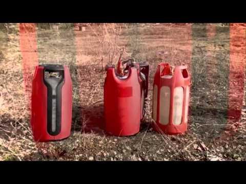 Взрывобезопасные композитные баллоны для пропана - тест на взрыв .