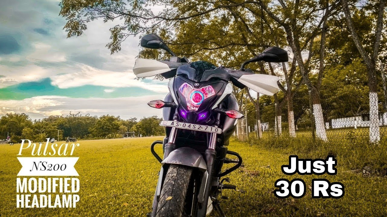 Pulsar ns200 modified headlamp in just 30 rs cheap headlight modification on pulsar ns200