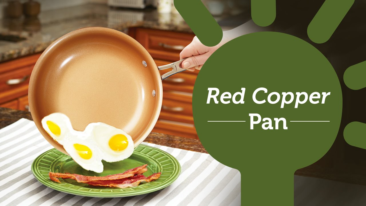 Red Copper Pan The Best Non Stick Pan For Cooking Youtube