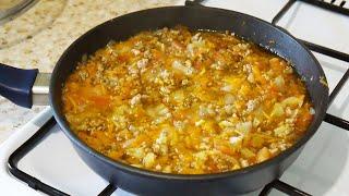 вкусное Блюдо На Сковороде / Прекрасный Обед или Ужин  Для Всей  Семьи
