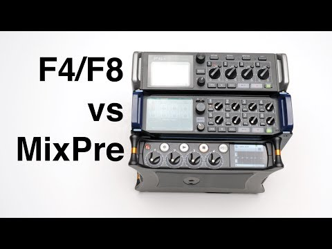 Zoom F4/F8 vs MixPre-3 and 6 Audio Recorder Comparison