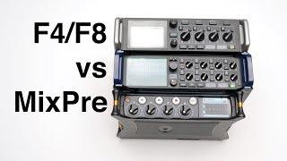 Zoom F4/F8 vs MixPre-3 and 6 Audio Recorder Comparison