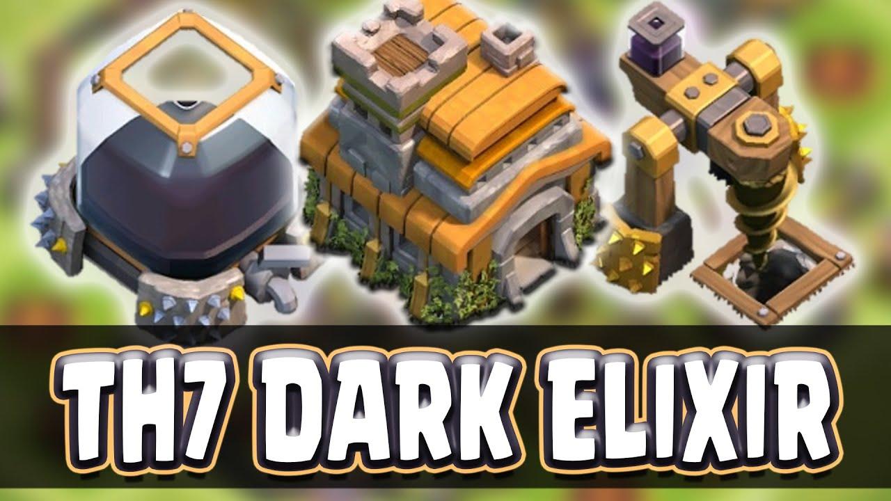 Dark elixir drill boost - Clash Of Clans Town Hall 7 Dark Elixir Farming Base Best Defense Strategy Youtube