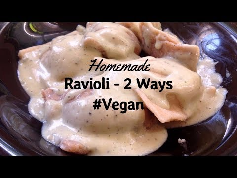Homemade Ravioli Recipe 2 ways ft. Pumpkin Sage Ravioli in a Cream Sauce (VEGAN RECIPE)