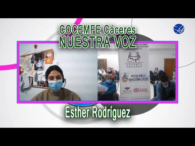 COCEMFE Nuestra Voz - Esther Rodríguez