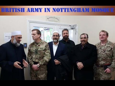 royal british army at nottingham local mosque