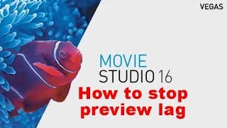 How to stop preview lag in Movie Studio 16