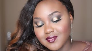Golden Glitters Christmas Makeup Tutorial | Inspired by a Holiday #octmakeupchallenge | Challenge Thumbnail