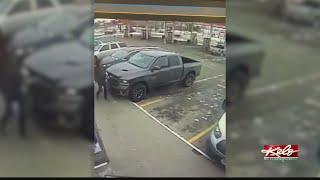 Stolen truck caught on camera as owner gives chase