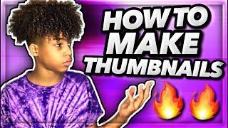 How To Make Great Looking Thumbnails On Your Phone 2019!