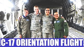 C-17 Orientation flight | First time on a plane for some