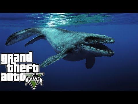 Gta5: Đi Săn Thằn Lằn Biển Mosasaurus Ở Vùng Biển Bắc Mỹ