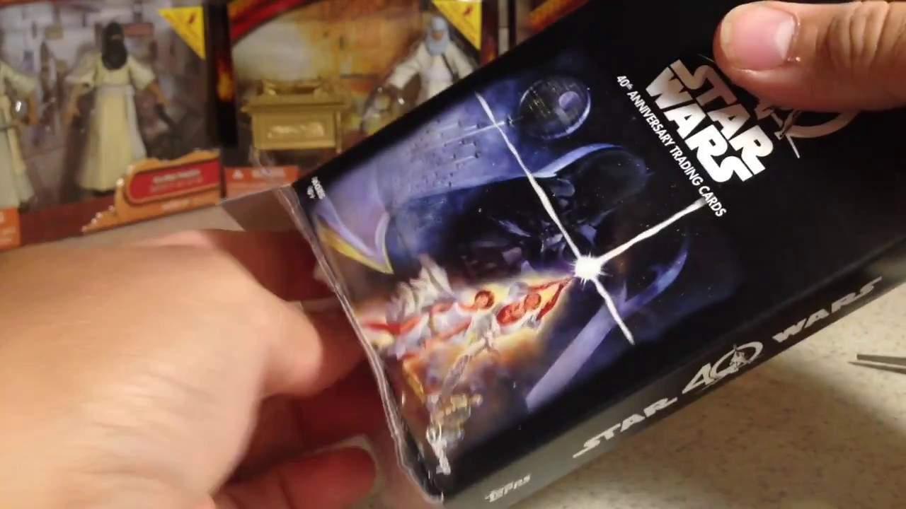 Opening topps star wars th anniversary rack pack of cards