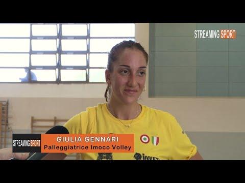 INTERVISTA CON  GIULIA GENNARI  -  IMOCO VOLLEY CONEGLIANO