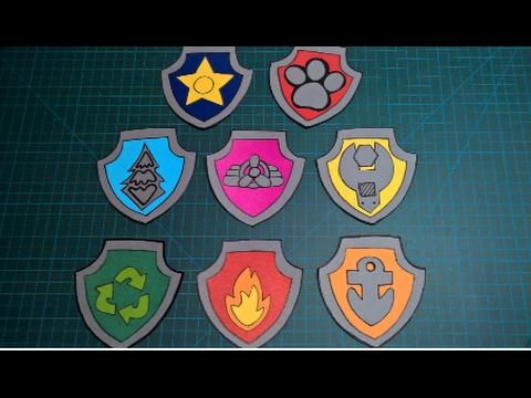 Diy Escudos En Cartulina De La Patrulla Canina Paw Patrol Cardboard Shields