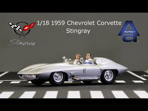 1/18 Autoart 1959 Chevrolet Corvette Stingray Die Cast Model Car