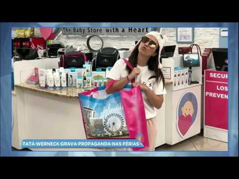 Hora da Venenosa: Tatá Werneck grava propaganda para loja de bebês