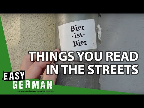 Things You Read In The Streets | Super Easy German (44)