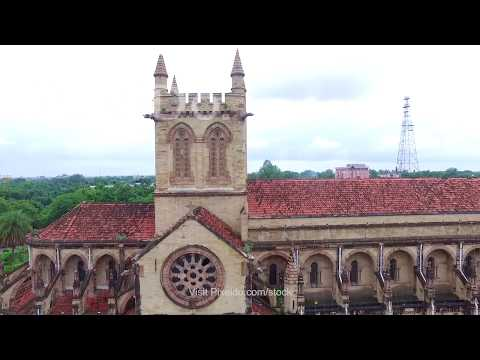 All Saints Cathedral Allahabad Drone Stock Video