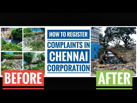 Must watch Chennai people | How to register complaint in Chennai ...