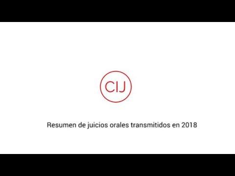 Resumen de juicios orales transmitidos en 2018