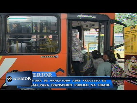 Prefeitura de Araçatuba abre licitação para transporte coletivo