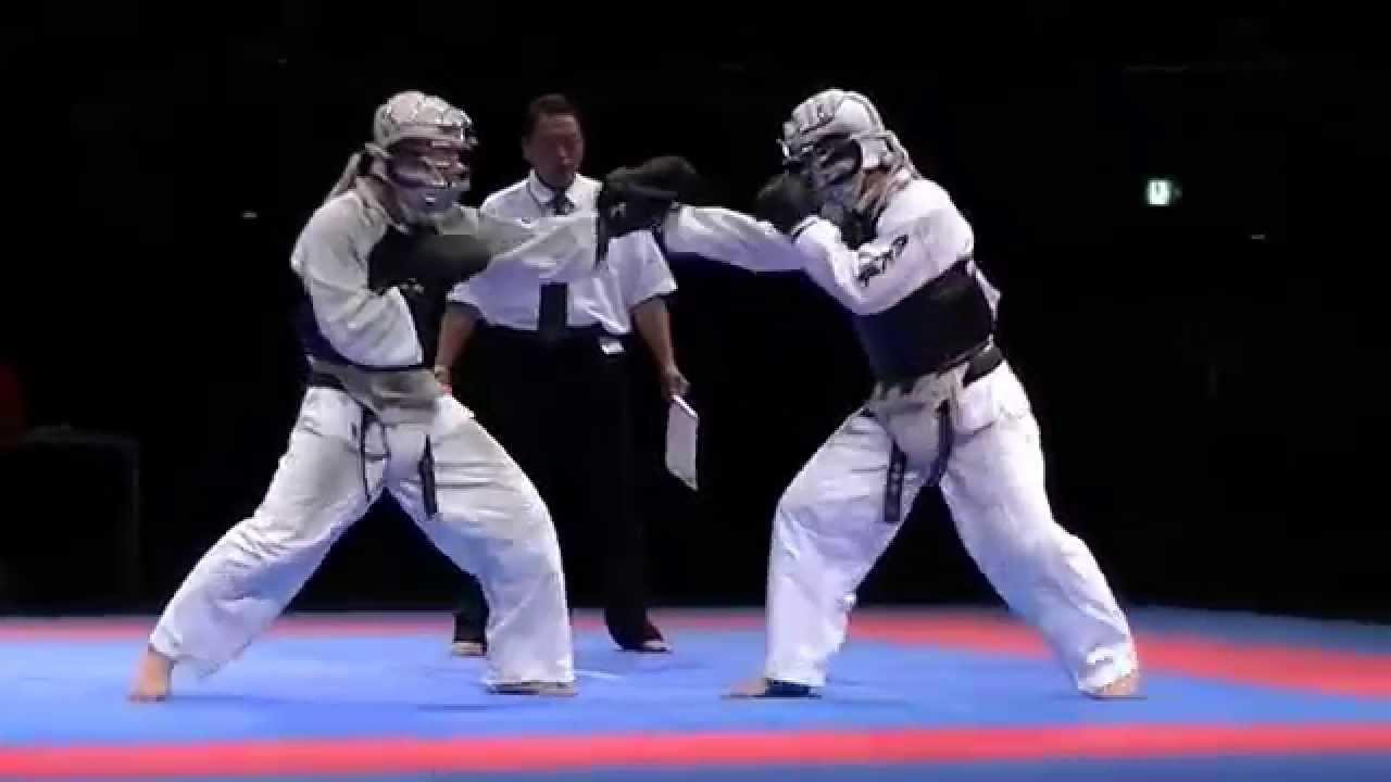 2015日本拳法総合選手権大會 成年男子3位決定戦 - YouTube