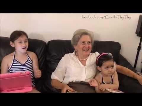ông bà nội facetime với ông bà ngoại ThyThy & LyLy _-Camilla ThyThy