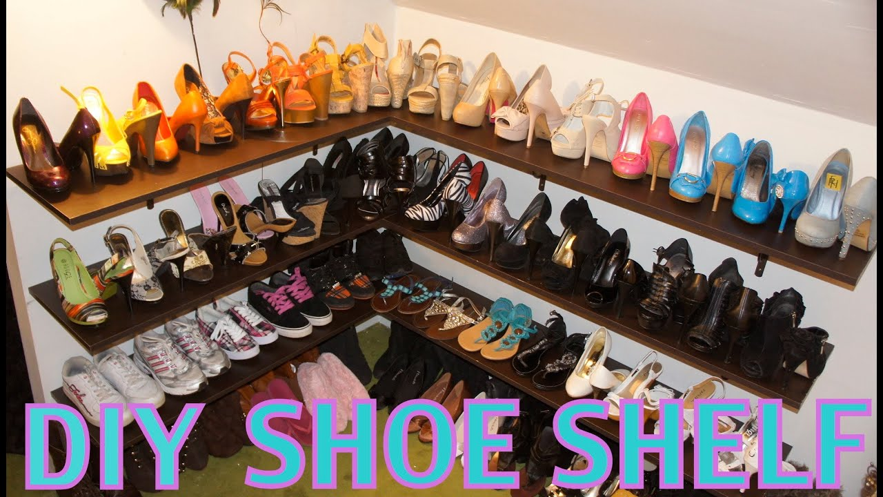 DIY Shoe Shelf And Organization   YouTube