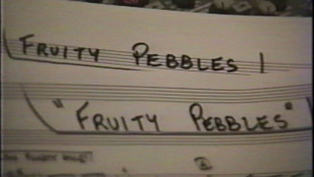 Fruitty Pebbles 1995 recording session