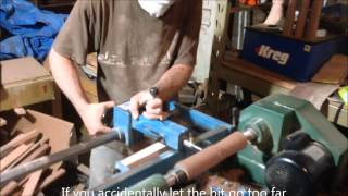 How To Turn A Leg With A Lathe