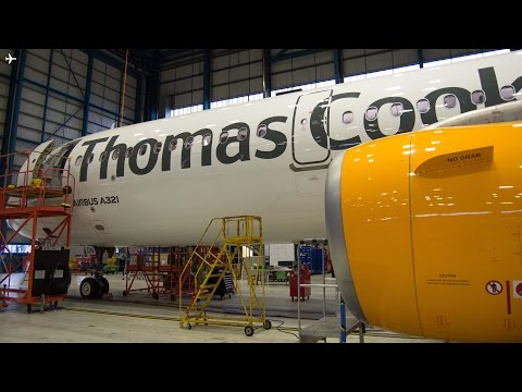 Thomas Cook Airlines Maintenance Hangar Tour at Manchester Airport