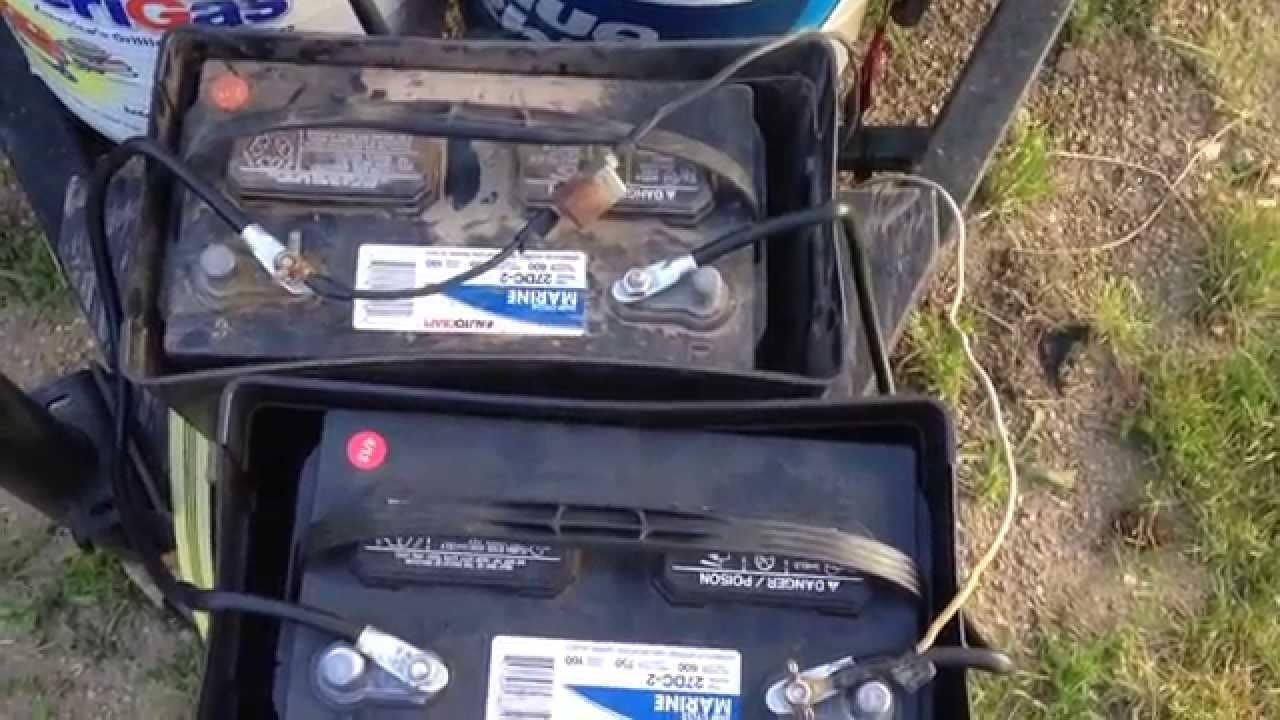 medium resolution of 12v batteries on pop up camper parallel