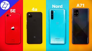 iPhone SE vs Pixel 4a vs OnePlus Nord vs Samsung A71 - BEST 2020 Budget Phone?