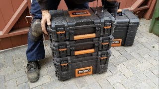 Ridgid Tool Storage Cart and Organizer Stack Boxes | Review