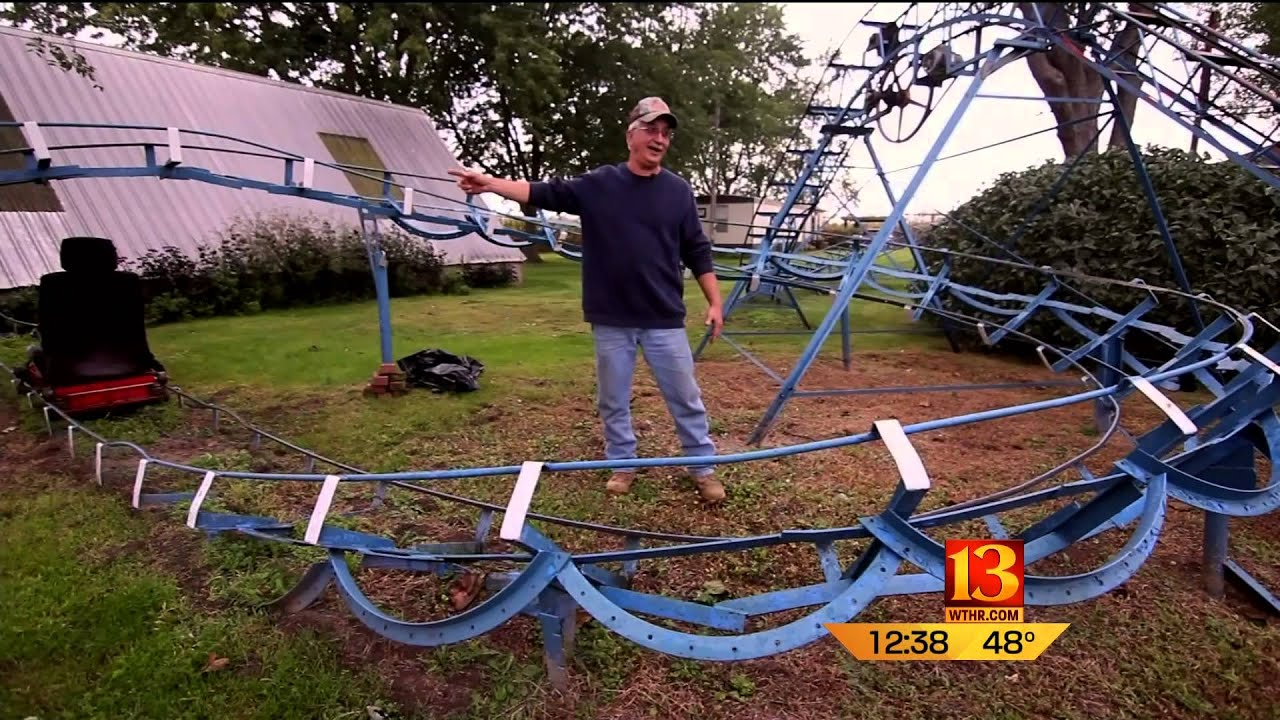 only in indiana backyard roller coaster youtube