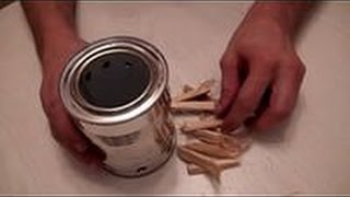 как сделать походную мини печку (шепочницу) своими руками в домашних условиях