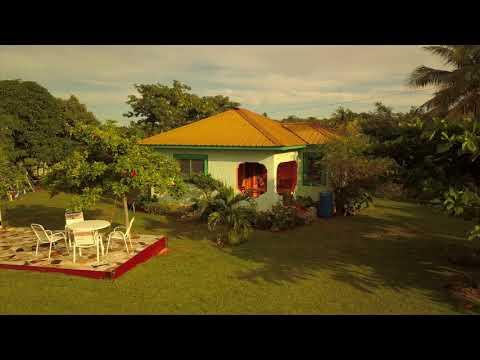 Drone View of Shakti Above Wata Villa in Treasure Beach, Jamaica