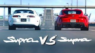 Toyota Supra MK4 VS Supra 2019 | Drag Race #2 (Gran Turismo Sport)