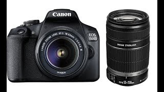 UNBOXING OF CANON EOS 1500D EF - S 18-55 IS II EF - S 55- - 250 IS II 16 GB MEMORY CARD.
