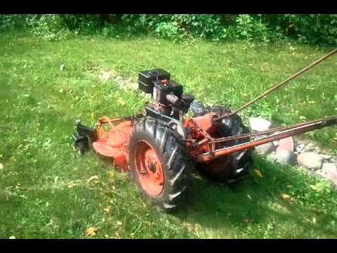 Retro-fitted 55 Simplicity FA Walk-behind mower with Briggs and Stratton  engine