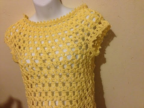 5f5be919d HOW TO CROCHET THE LEA BLOUSE -TUTORIAL - DIY - YouTube