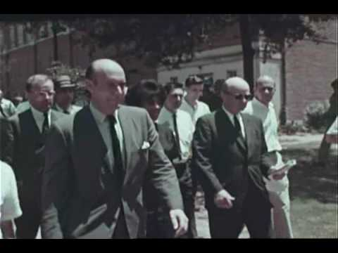 Governor George Wallace Racial Integration Stance at University of Alabama 1963