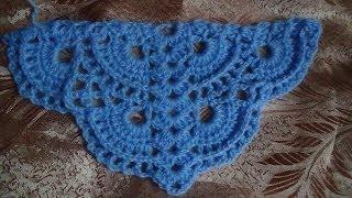 Веерный узор для шали - вариант 2. pattern for shawls - Option 2