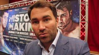 EDDIE HEARN ON RICKY BURNS v DI ROCCO & TONY BELLEW v ILLUNGA MAKABU / HISTORY IN THE MAKING