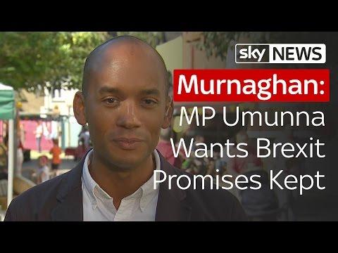 Labour MP Umunna Wants Brexit Promises Kept