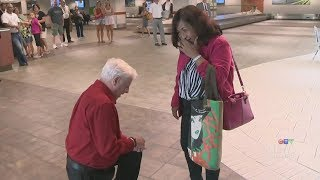 Airport proposal: Couple finds love after meeting online