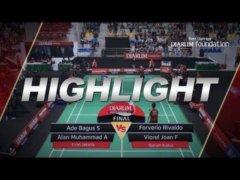 Ade Bagus S/Alan Muhammad A (Exist Jakarta) VS Forverio Rivaldo/Viorel Joan F (Djarum Kudus)